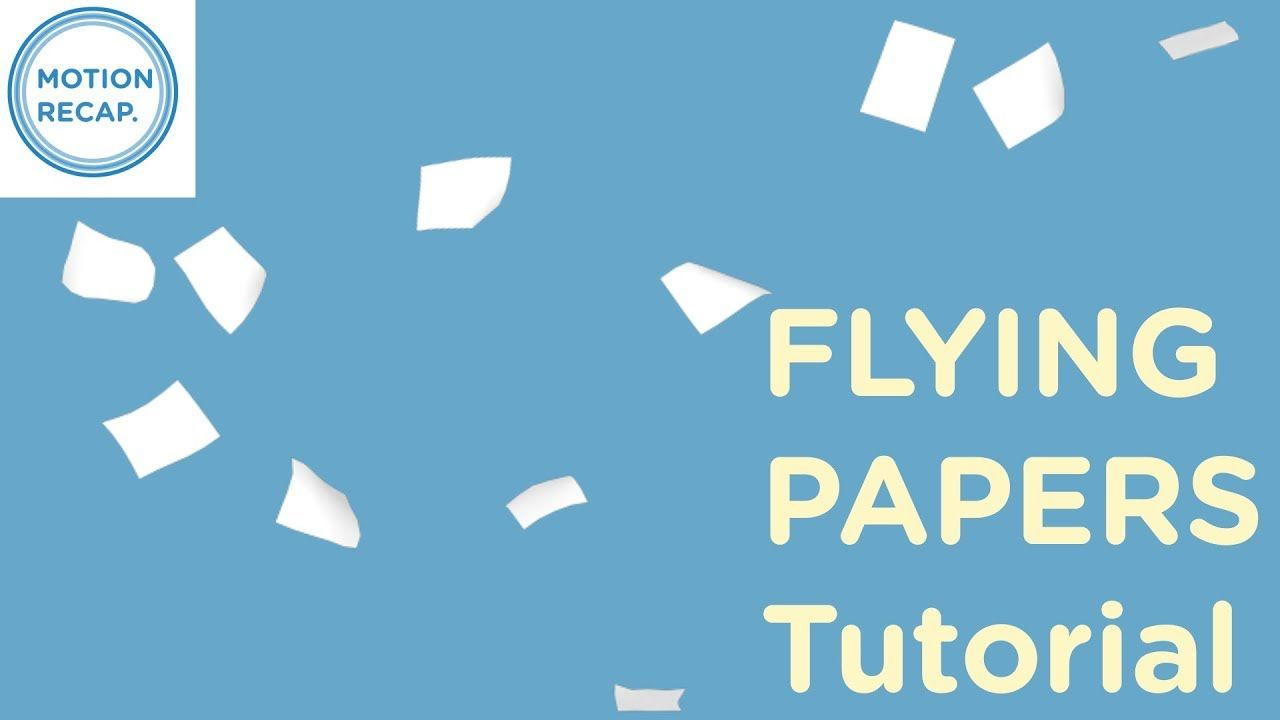 Papers flying | C4d to After effects tutorial | Work - Video