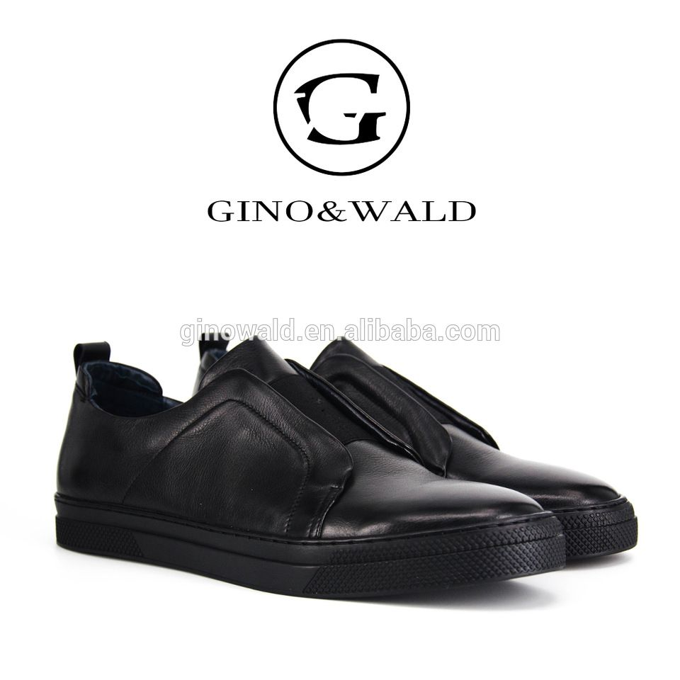 Cool black pure leather brand name