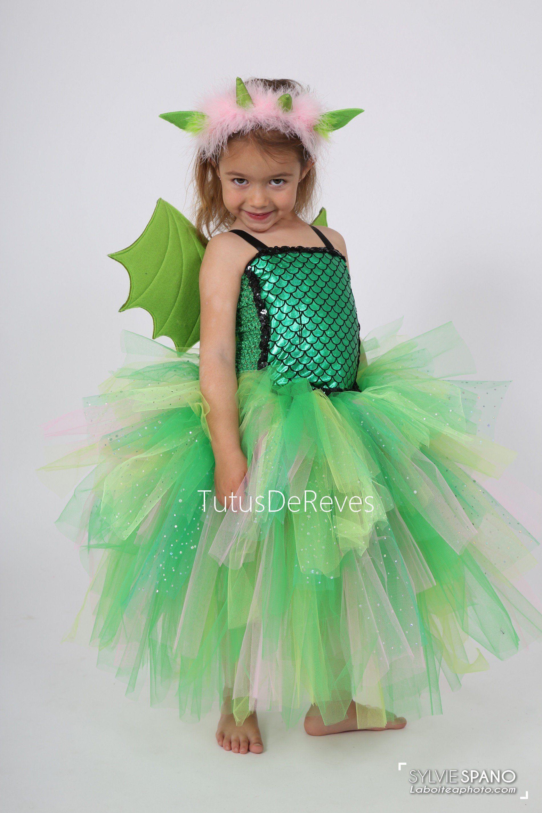 Quatang Gallery- Costume De Dragon Enfant Fille Dragon Vert Dragon Halloween Jeu De Trone Halloween Costume Carnaval En Girls Dragon Costume Carnaval Costume Dragon Costume