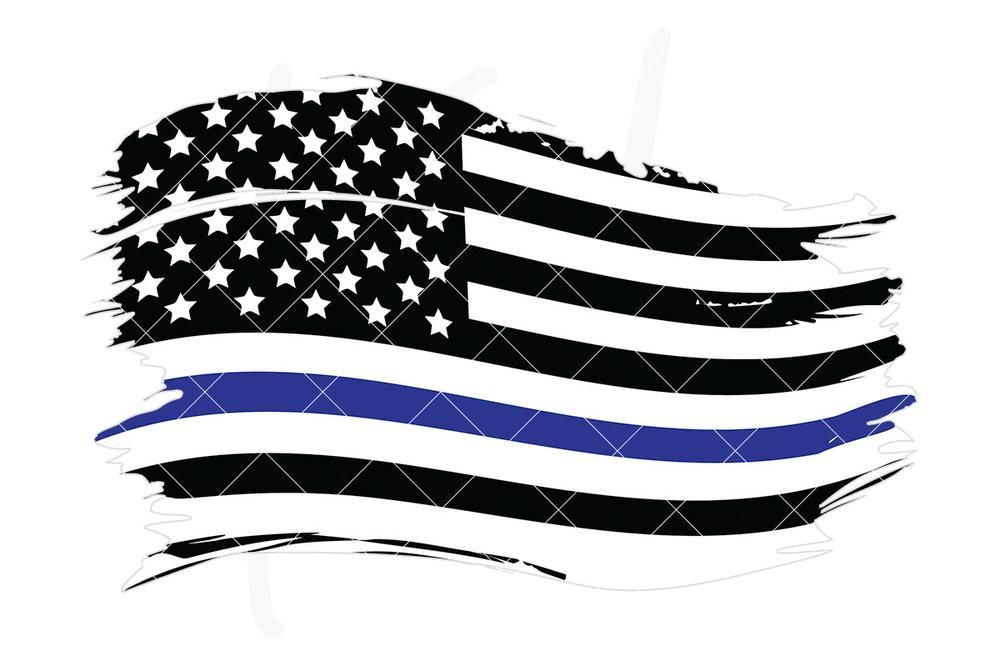Honor Country Blue Line American Flag Hat//Cap Free Blue Line Sticker