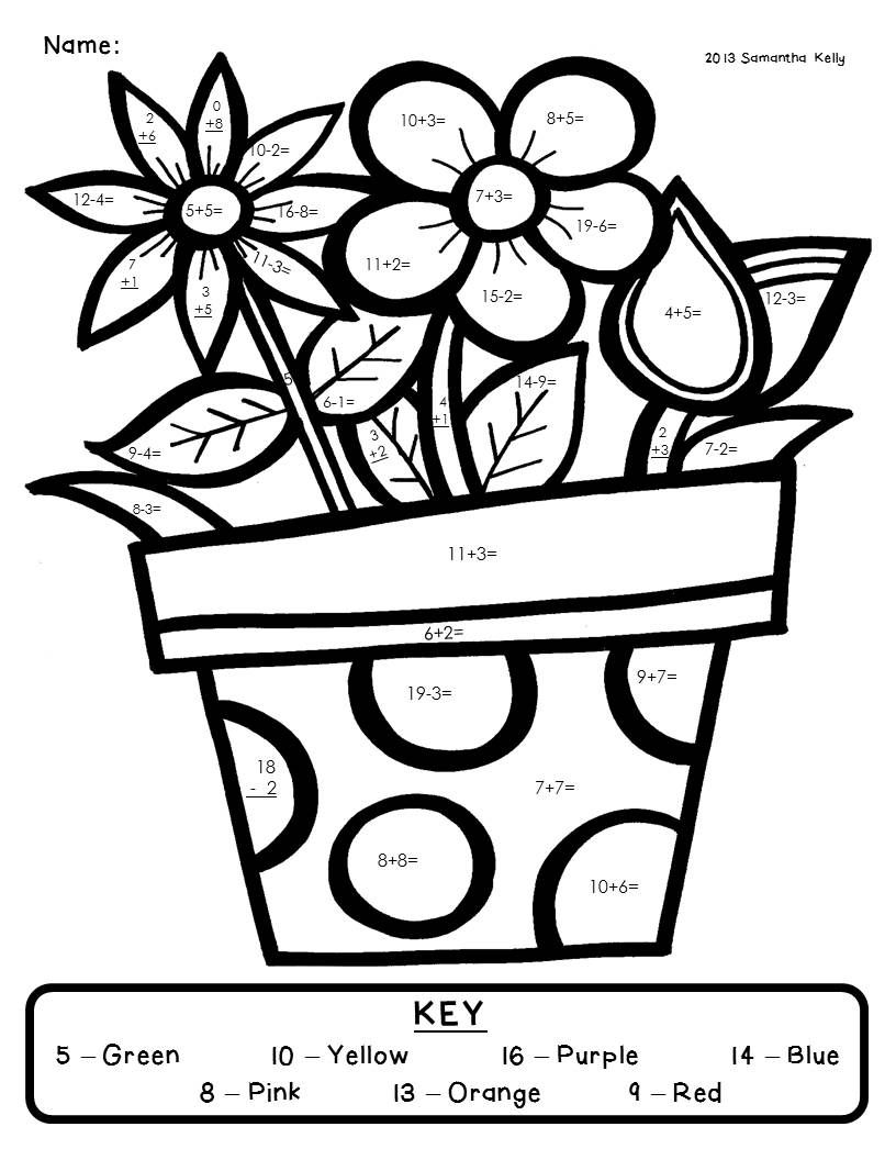 Coloring pages using addition - Download This Freebie Color By Number From My Blog It Comes From My Smile
