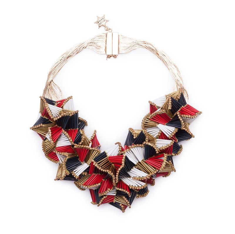JEWELLERY Short metallic necklace MULTICOLOUR