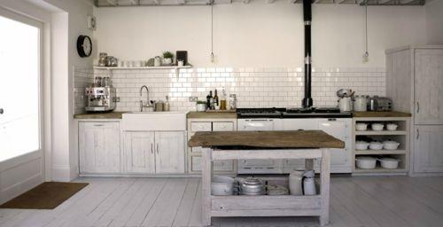 Weiße Küche Kitchen ideas Pinterest Wabi sabi, Interiors and - fliesen für die küche