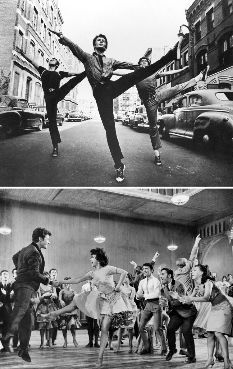 George Chakiris and Rita Moreno in West Side Story (1961). Costume Design by Irene Sharaff / Nørr Film
