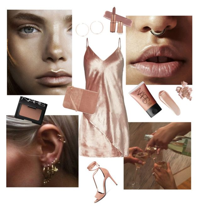 """""""rich, rose gold."""" by crystallizing ❤ liked on Polyvore featuring beauty, NARS Cosmetics, Fleur du Mal, Anita Ko, Pierre Hardy and By Terry"""