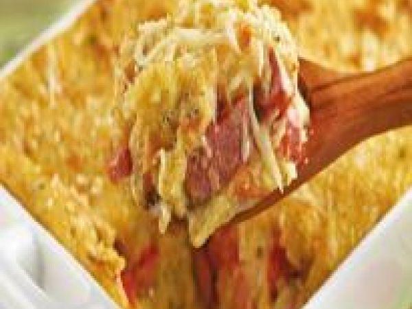 Receita Salsicha com purê de batata, de Receitas