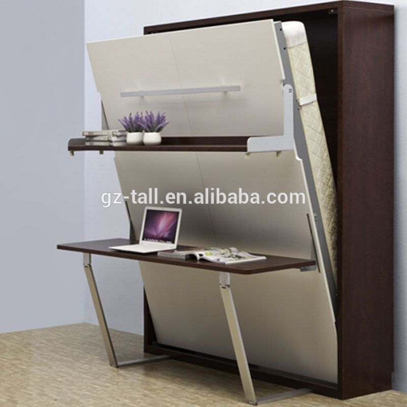 Source High Quality Wooden Folding Wall Bed Hidden