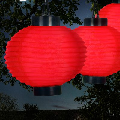 Pure Garden Solar Chinese Outdoor Paper Lantern Paper Lanterns Paper Lantern Lights Solar Powered Lanterns