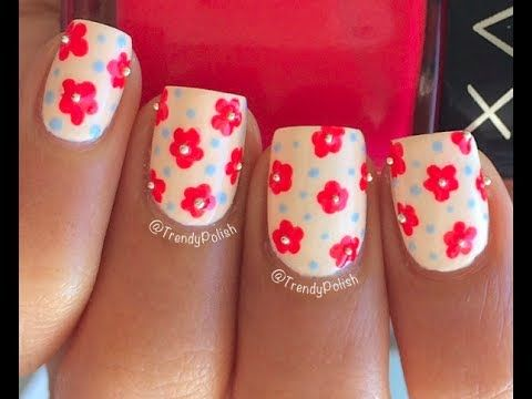 Easy Flower Nail Art Using Toothpick Only Youtube Toothpick