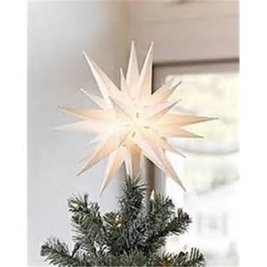 12 Inch Moravian Star Christmas Tree Topper Or Porch Light By Elf Christmas Tree Toppers Star Christmas Lights Holiday Light Decorations