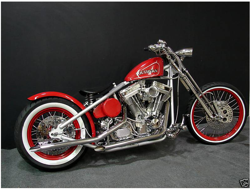 Bobber With Red Tank And Rims Bobber Motorcycle Bike
