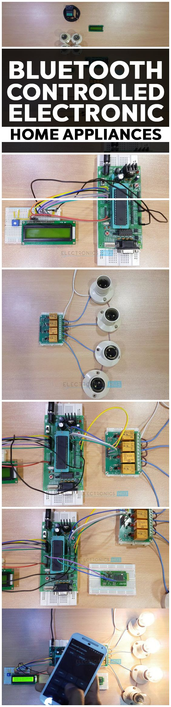 Bluetooth Controlled Electronic Home Appliances Arduino Cool Projects Electronics And Microcontrollers Is A Simple Project Where We Can Control Different Electrical Devices Using An