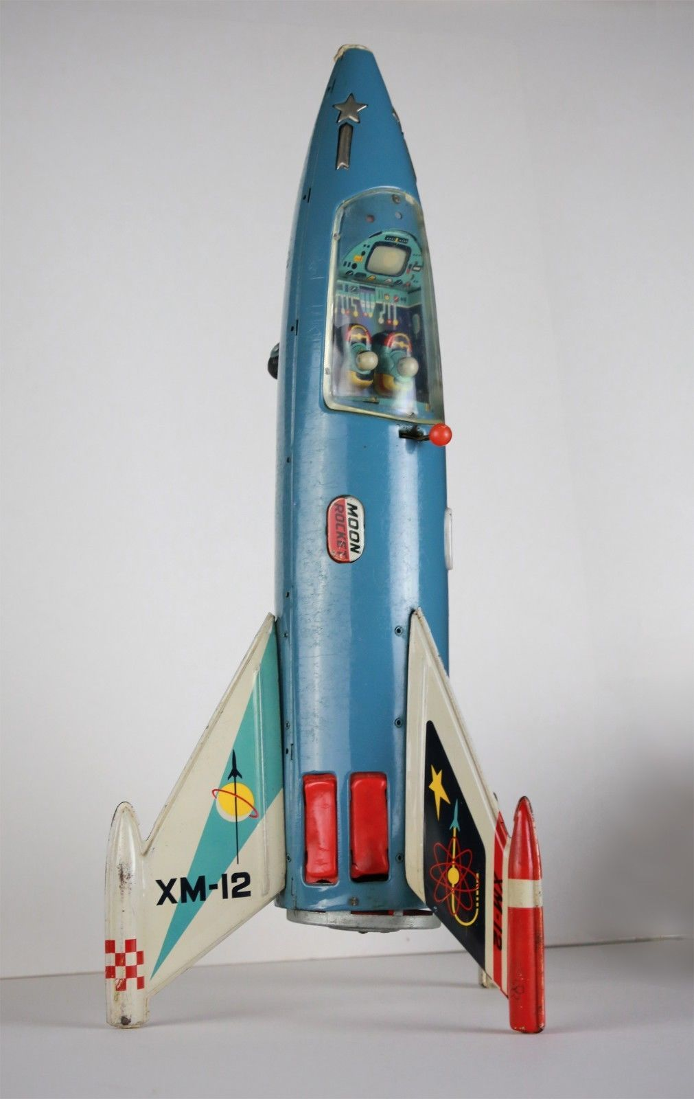 Wonderful Yonezawa Space Ship Moon Rocket Toy Battery ...
