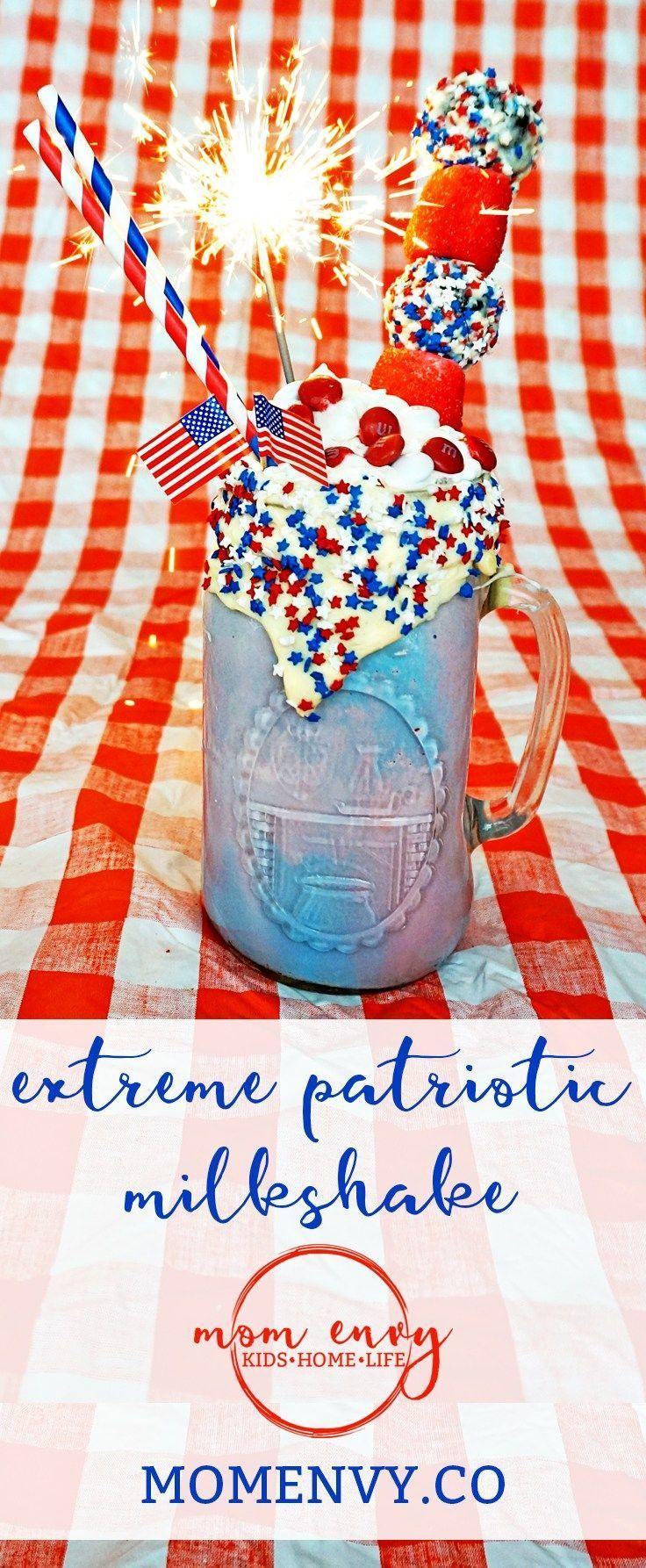 Extreme Patriotic Milkshake #labordaydesserts Memorial Day Milkshake. Extreme Patriotic Milkshake. Fourth of July Milkshake. Labor Day Milkshake. Red, white, and blue milkshake. Memorial Day dessert recipe. Fourth of July dessert recipe. Labor day dessert recipe. Red, White, and Blue recipe. Mom Envy. #labordaydesserts Extreme Patriotic Milkshake #labordaydesserts Memorial Day Milkshake. Extreme Patriotic Milkshake. Fourth of July Milkshake. Labor Day Milkshake. Red, white, and blue milkshake. M #labordaydesserts