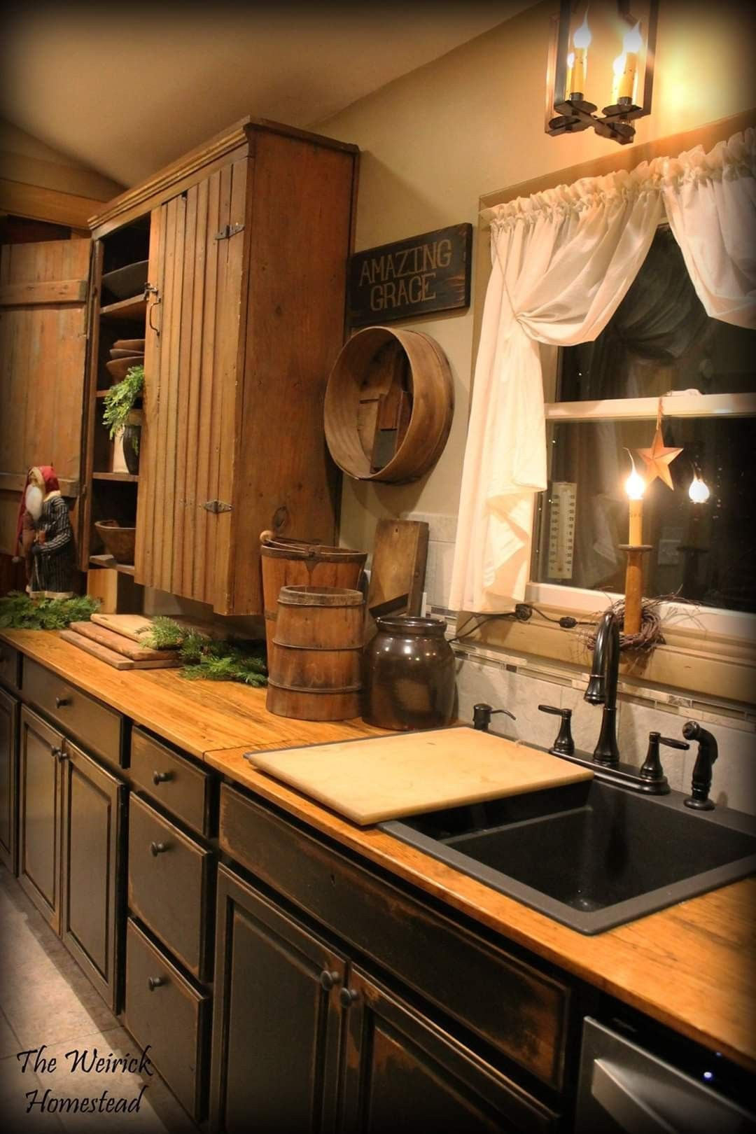 Pin By Cyndee Randall On Country Kitchen Primitive Kitchen Decor Primitive Kitchen Rustic Kitchen