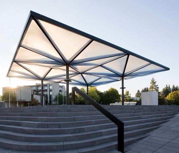 Community Center Unterföhring - Pneumatic ETFE roof - Temme Obermeier | ETFE Membrane Architects. Canopy ArchitectureFuturistic ... & Community Center Unterföhring - Pneumatic ETFE roof - Temme ...