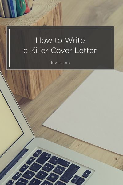 How To Write A Killer #coverletter In 4 Paragraphs. Http://www