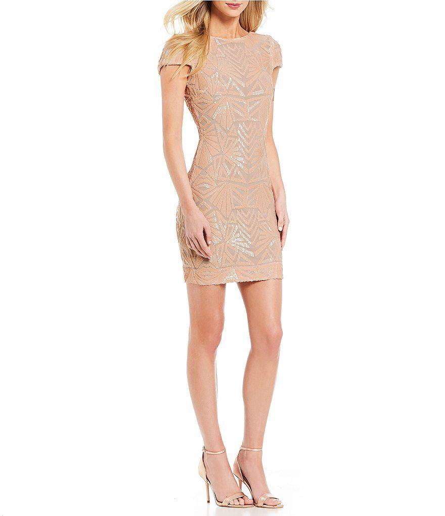 369bc9c9e5 Dress the Population Tabitha Sequin Sheath Dress
