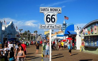 Image result for Santa Monica and ROUTE 66.