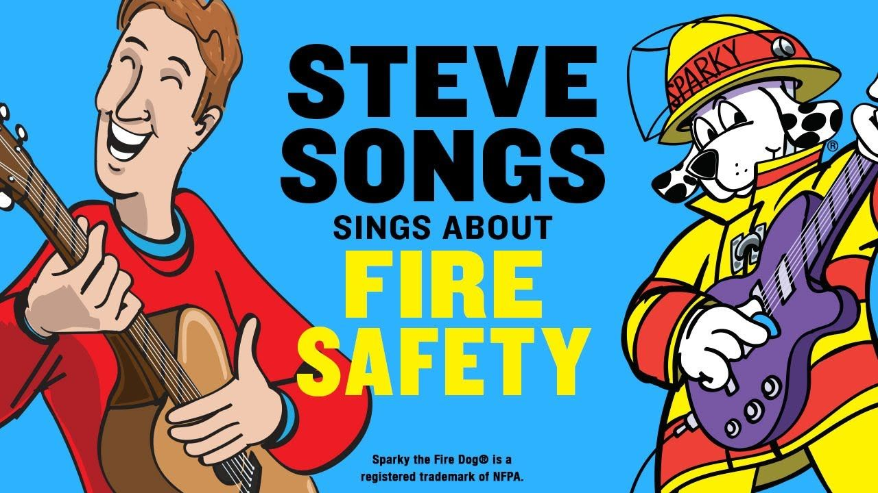 Fire Safety Video for Kids with SteveSongs & Sparky the