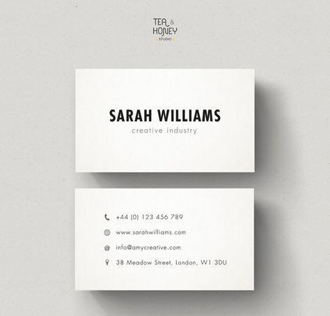Minimalistic Business Cards Calling Card Design Minimal Design