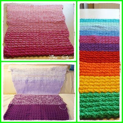 Häkeldecke Decke häkeln Häkelanleitung Crochet Pattern free Flosse ...