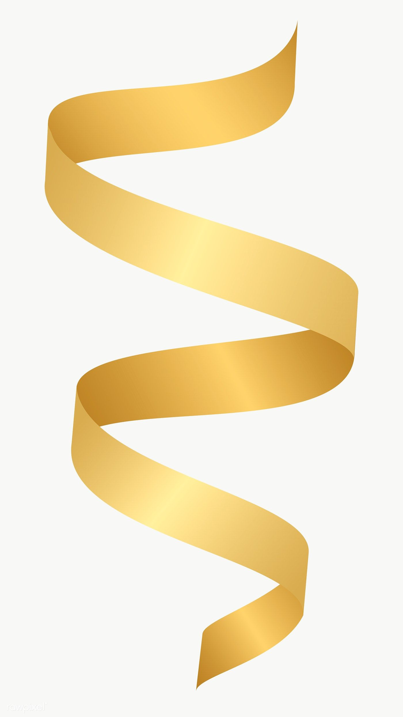 Gold Ribbon Element Transparent Png Free Image By Rawpixel Com Kappy Kappy Ribbon Png Gold Ribbons Stock Images Free