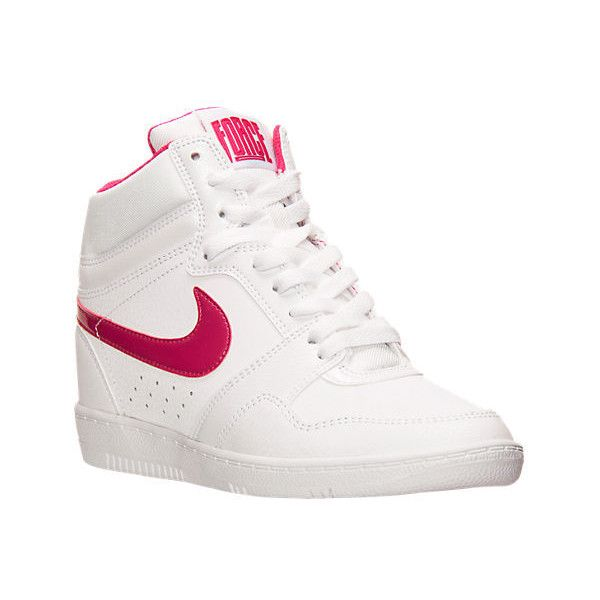 Nike Women's Force Sky High Casual Shoes featuring polyvore, women's  fashion, shoes, athletic