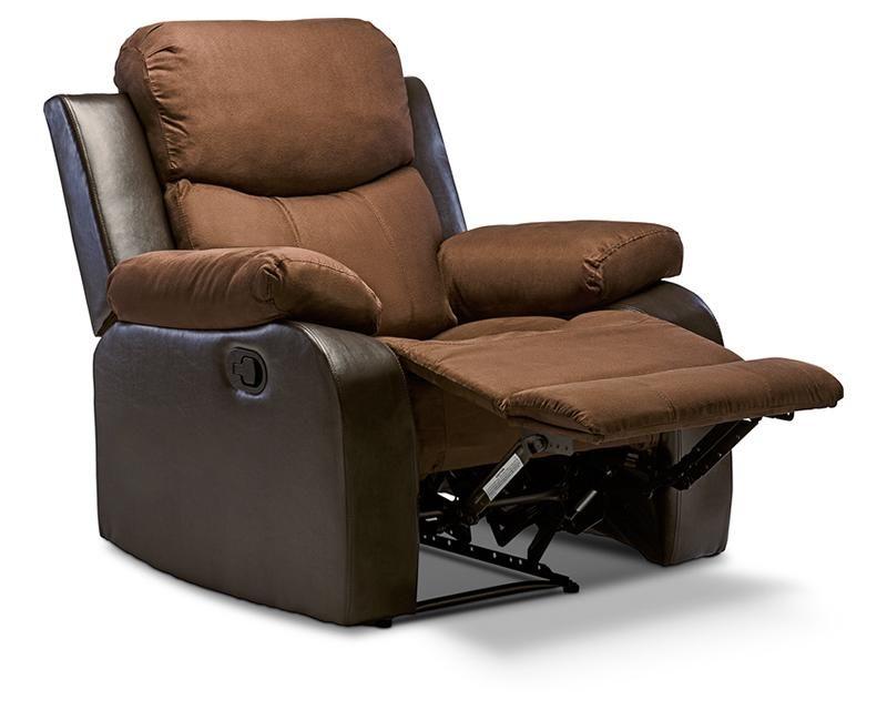 Sill n reclinable tania tapizado en microfibra caf for Sillon reclinable doble