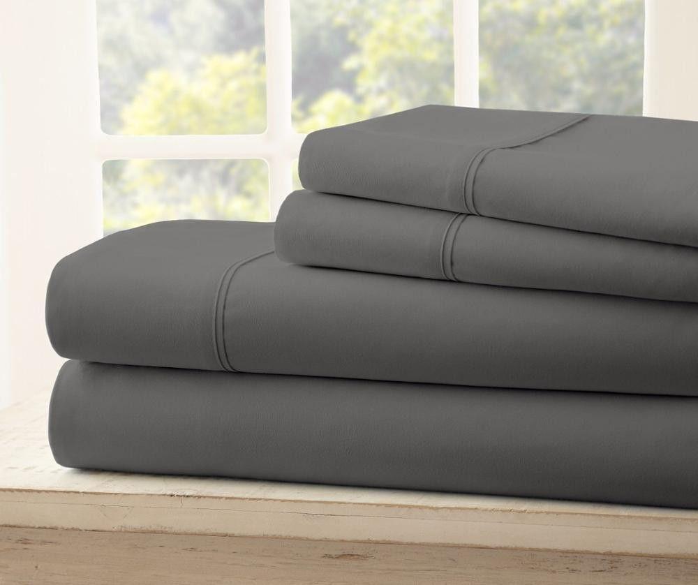 Luxury Comfort Bed Sheet Set Deep Pocket 4 Piece Extra Soft Hotel ...