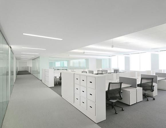 White Office Interior Design by Garcia Tamjidi Biurai
