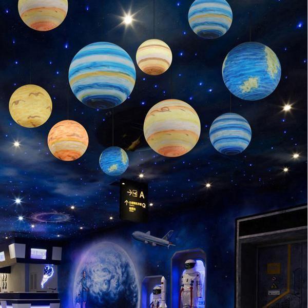 Milky Way Galaxy Pendant Lamp Galaxy Bedroom Outer Space Bedroom Galaxy Pendant