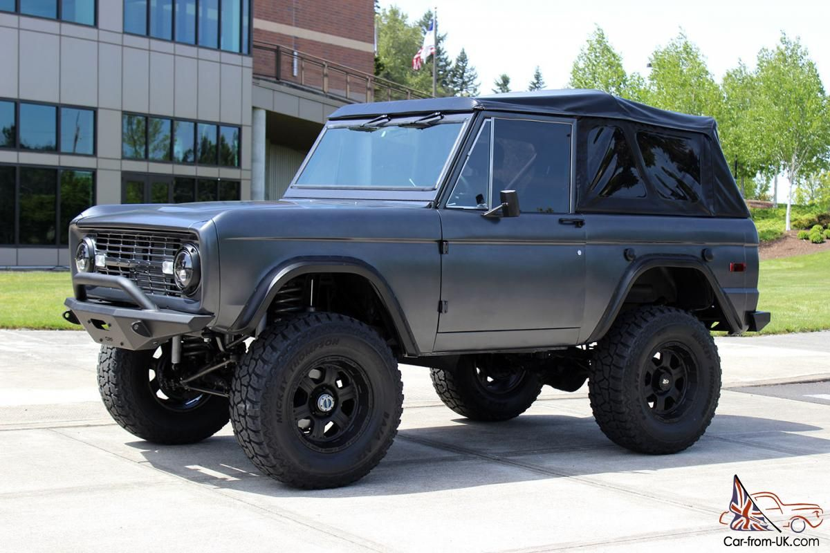 1970 Ford Bronco in Satin Gunmetal Grey Paint. Love it