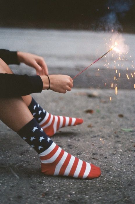 american flag socks and sparklers :)