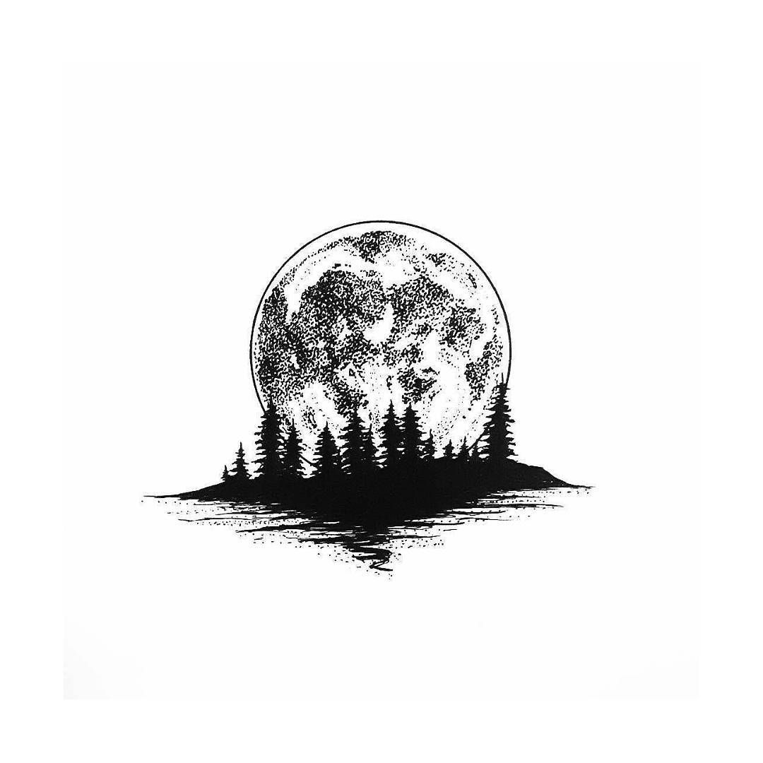 Full Moon Vibes By Infused Essence Blackworknow If You Would Like To Be Featured Full Moon Tattoo Moon Tattoo Moon Drawing