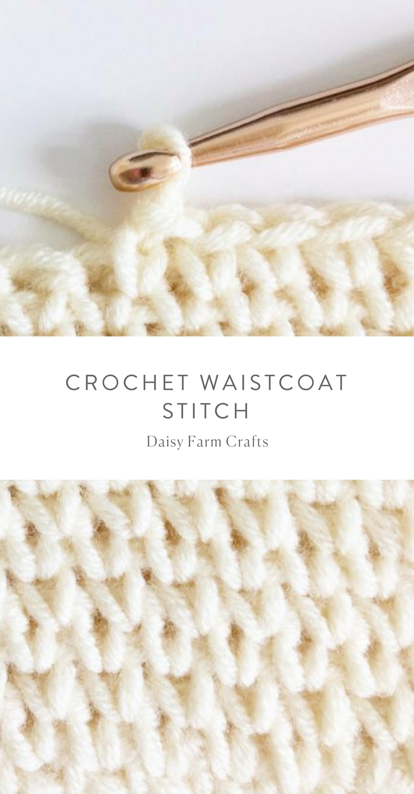 Free Pattern - Crochet Waistcoat Stitch #crochet   Crochet   Croché ...