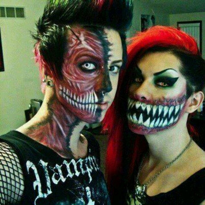 Pin by Shasta Shire on Face paint and fx Pinterest Crazy makeup - halloween costumes scary ideas