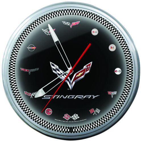 Shop Lingenfelter Stingray With Logos 20 Clock 325 00 Plus 25 00 Shipping 260 724 2552 This Clock Face Features The Seventh Ge Neon Clock Clock Corvette