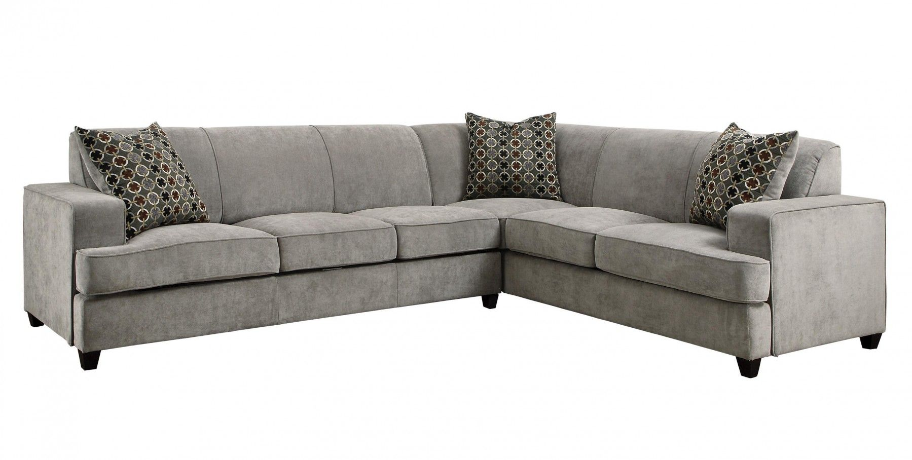 Coaster 500727 Tess Grey Sectional Sofa With Sleeper Sectional