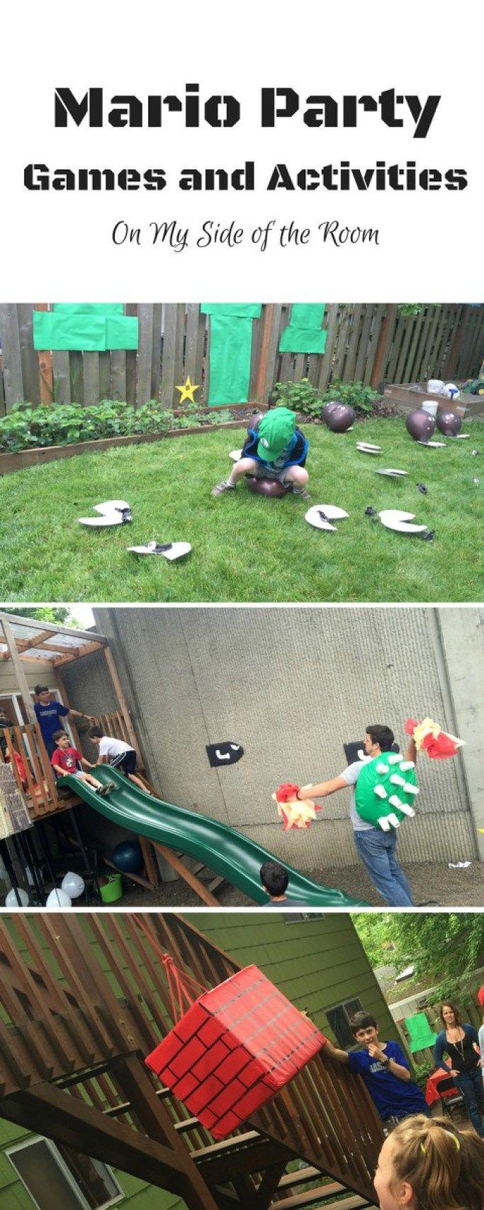 Mario Party Games and Activities Mario birthday party Birthday