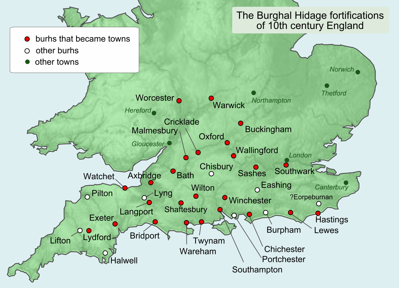 Map Of England The Last Kingdom.Map Of Named Burhs In 10th Century England Anglo Saxon History