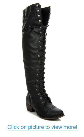 6d3e07f17fa Breckelles Women s Alabama-12 Knee High Riding Boots