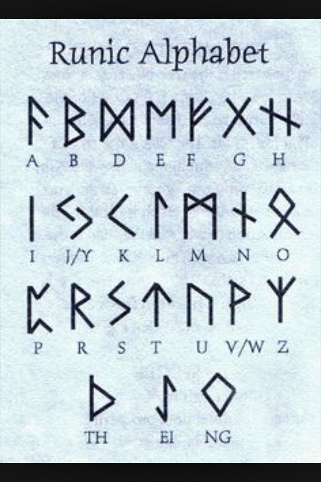Norse Runes You Can Use These To Solve The Code In The Gravity Falls Theme Song Runic Alphabet Alphabet Viking Symbols