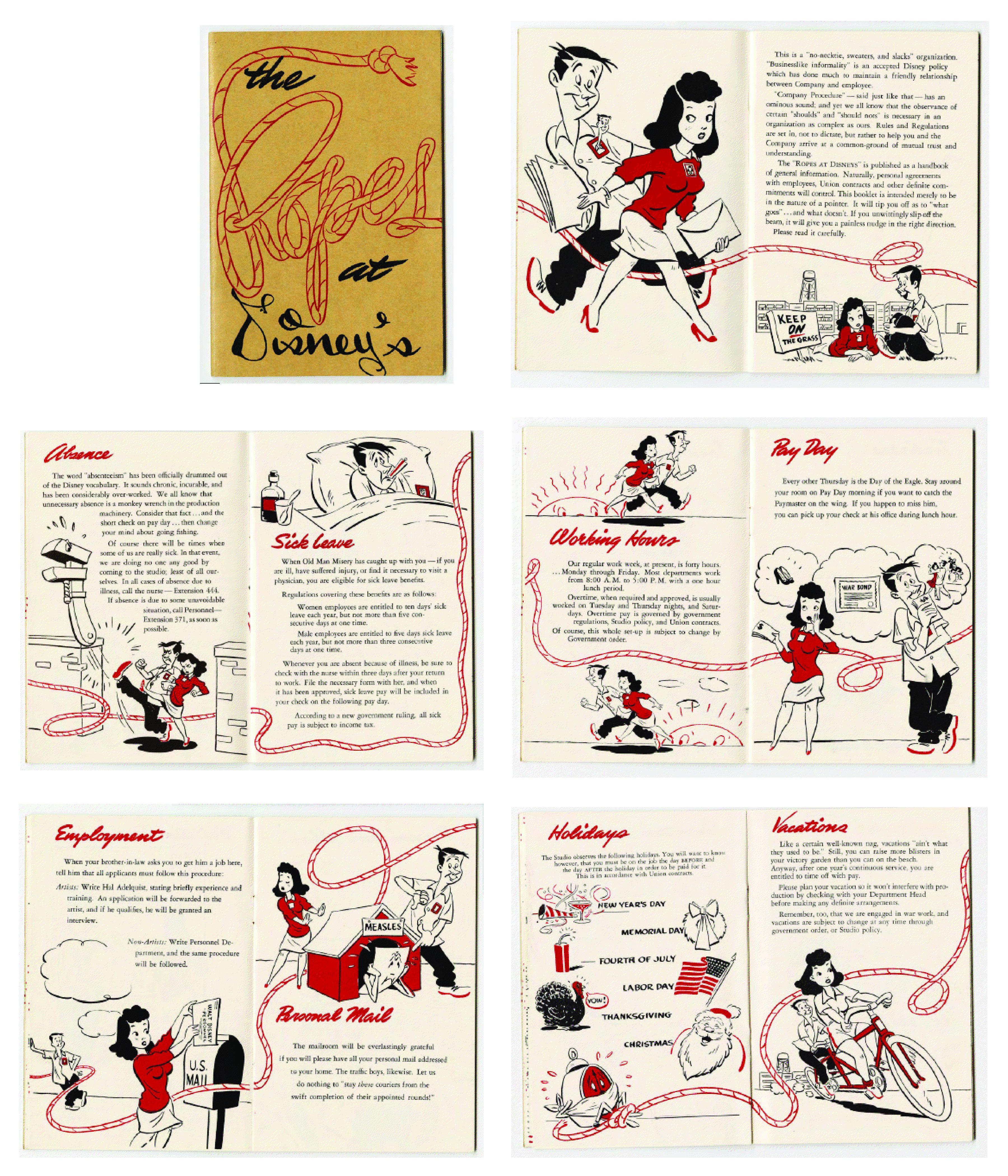 Disney Employee Handbook  Fun Via Quipsologies  Vintage