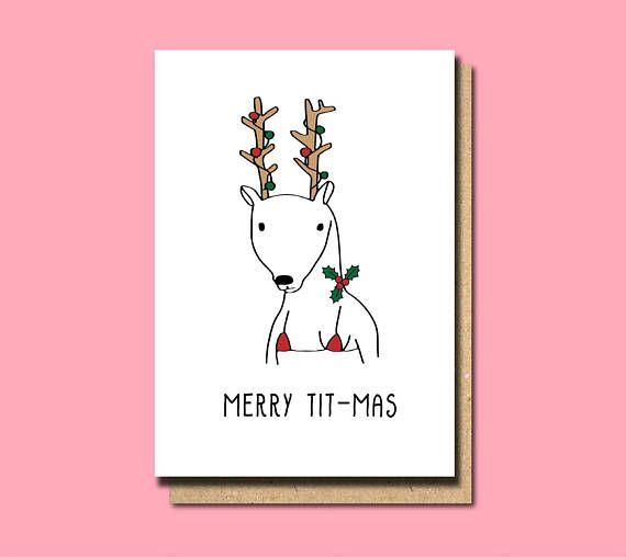 Christmas Card Boyfriend Christmas Card Husband Christmas  Funny