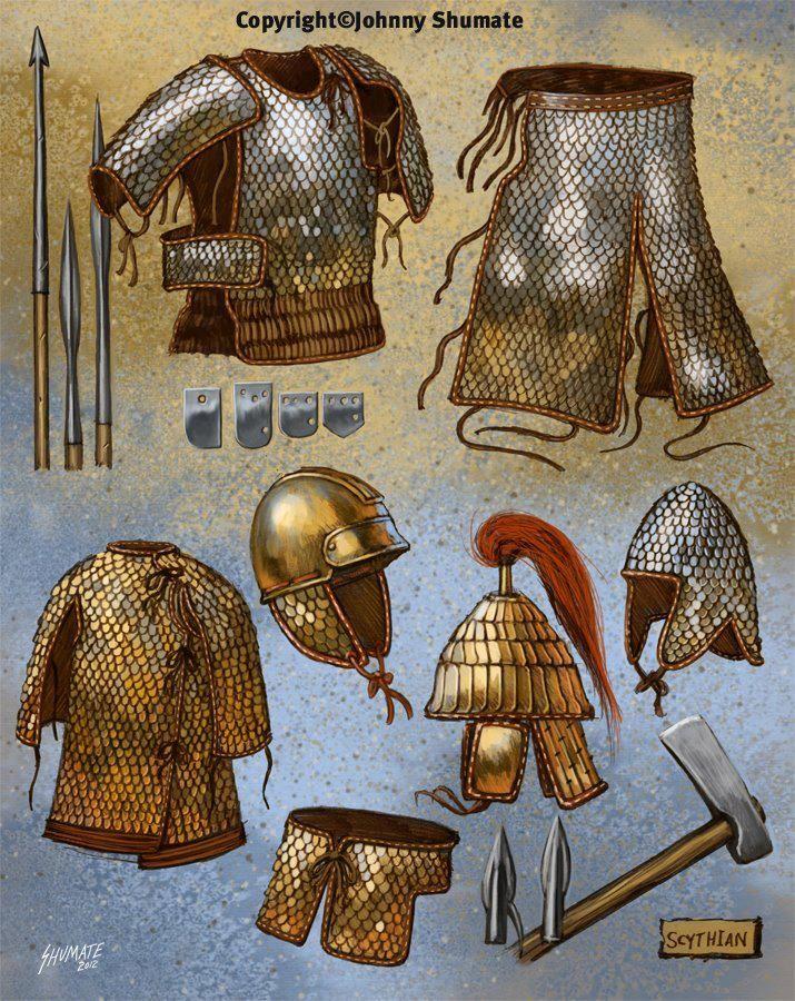 Scythian arms and armor.