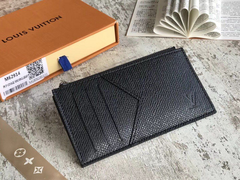 4f3d54afdc30a Louis Vuitton Coin Card Holder M62914 – Taiga Leather