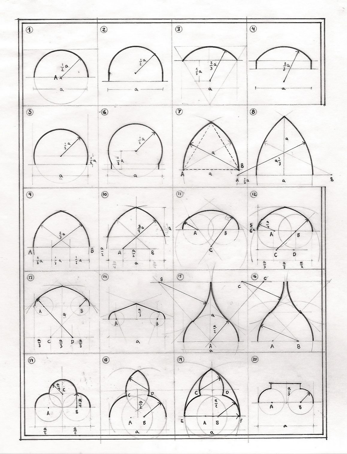 27 Tipologias De Arcos Geometry Art Geometric Art Mandala Design Art