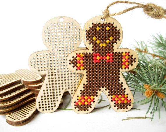 "Cross stitch blank, Gingerbread man, Gingerbread man pattern, Cross Stitch Pendant, Plywood Blank, Cross Stitch, Laser Cut, 1 Piece  Measurement: 70 x 50 mm (2 x 2 3/4"") Thickness: 4 mm (app. 1/6"") Material: plywood Condition: new, unused  The price indicated is for one cross stitch blank. Digital cross stitch pattern - FREE!  Gigerbread Girl Cross stitch pattern here: https://www.etsy.com/listing/498729154/cross-stitch-blank-gingerbread-girl?ref=shop_h..."
