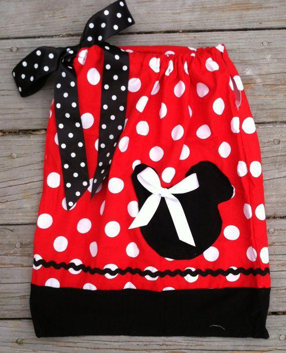 Minnie Mouse Pillowcase Dress-Red White Polka Dot Minnie Mouse Dress-Minnie Mouse Birthday & Minnie Mouse Pillowcase Dress-Red White Polka Dot Minnie Mouse ... pillowsntoast.com